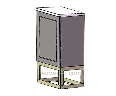 NEMA 4 outdoor stainless steel cabinet