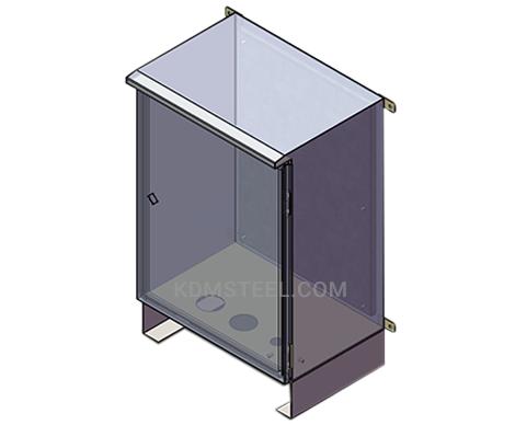 NEMA 4 outdoor steel wall mount electric enclosure