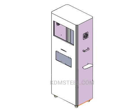 NEMA 4 single door stainless steel electrical enclosure