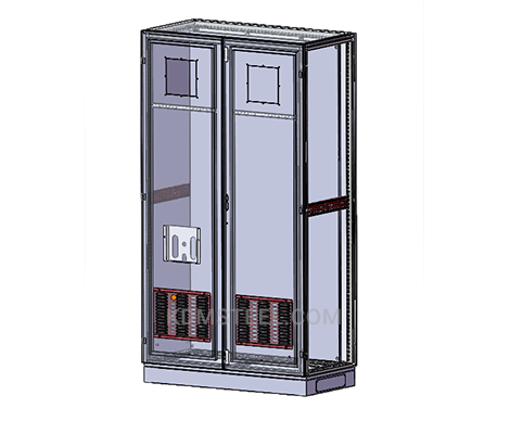 NEMA 4 stainless steel double door free standing electrical enclosure with file pocket and air filter
