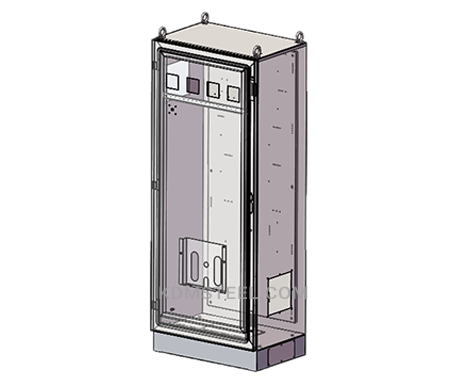 NEMA 4 stainless steel free standing dust proof electrical enclosures