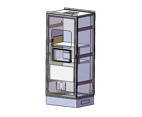 NEMA 4 stainless steel free standing modular electrical enclosure with window