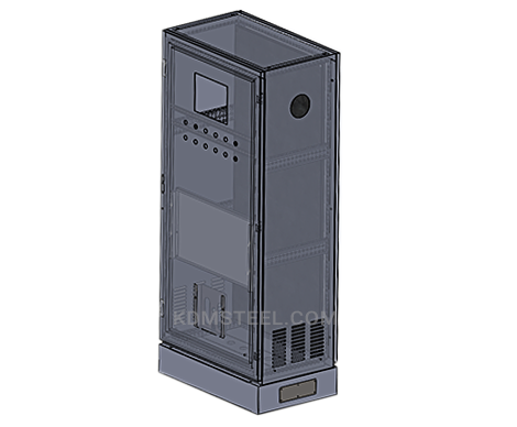 NEMA 4 stainless steel free standing vented electrical enclosure