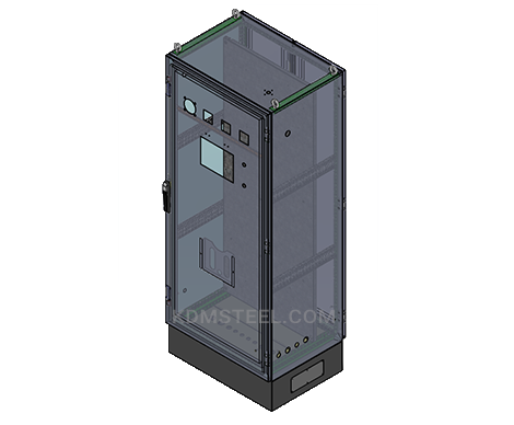 NEMA 4 stainless steel outdoor free standing enclosures for electrical equipment