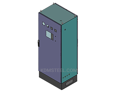 NEMA 4 vented stainless steel enclosure with lock