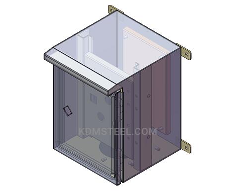 Nema 4 wall mount Galvanized Steel Enclosure