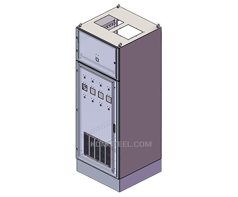 Vented stainless steel electrical enclosure NEMA 12