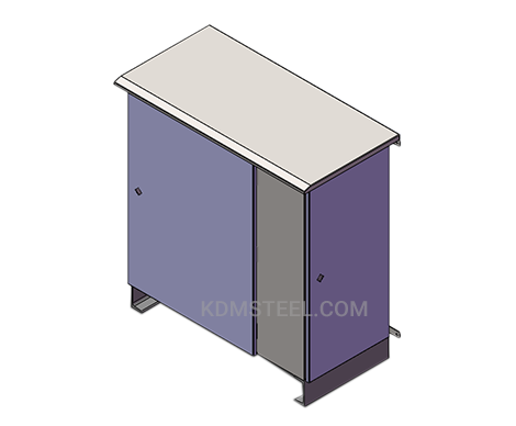 carbon steel desk console enclosure