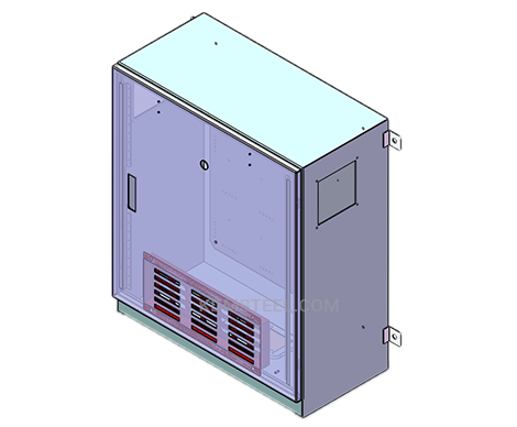 carbon steel wall mount ventilated battery enclosures