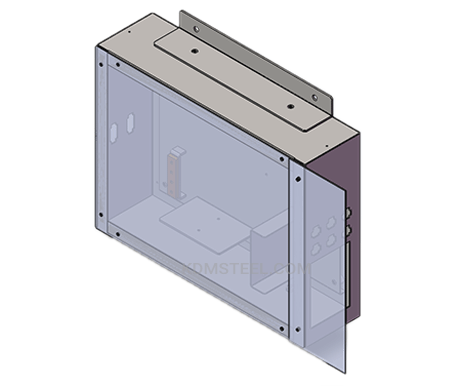 custom carbon steel IP65 enclosure