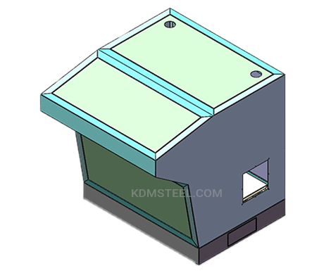 custom carbon steel powder coated washdown electrical enclosure