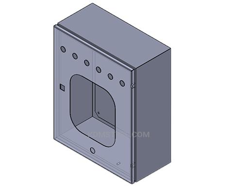 custom steel nema 12 vfd enclosure