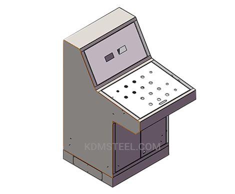 customized stainless steel piano type industrial enclosure