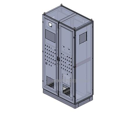 doube door stainless steel free standing NEMA 4X IP 65 enclosure