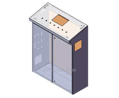 double door carbon steel washdown electrical enclosure