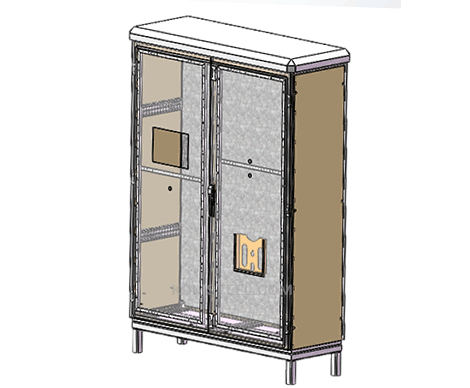 double door floor mount metal enclosure