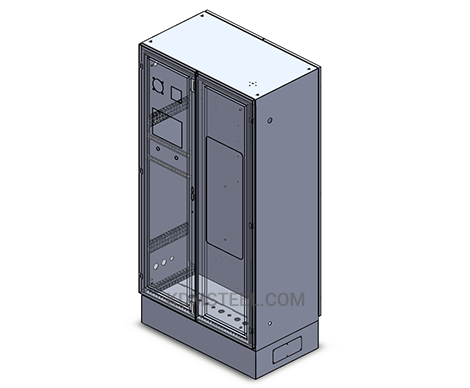double door free standing lockable industrial enclosure