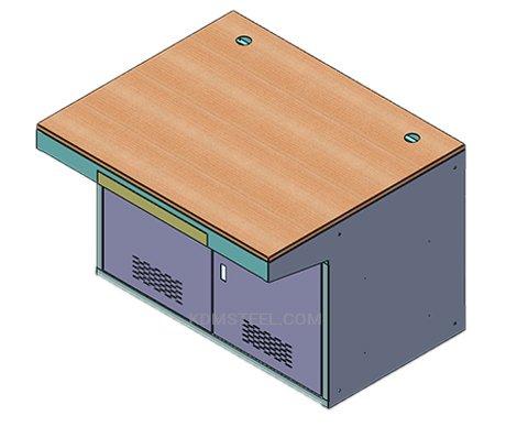 double door marine use table desk