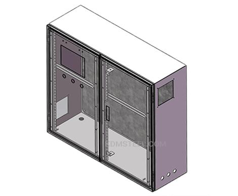 double door metal NEMA 4 marine electrical enclosure