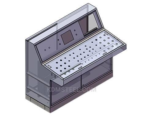double door piano type free standing Galvanized Steel console enclosures