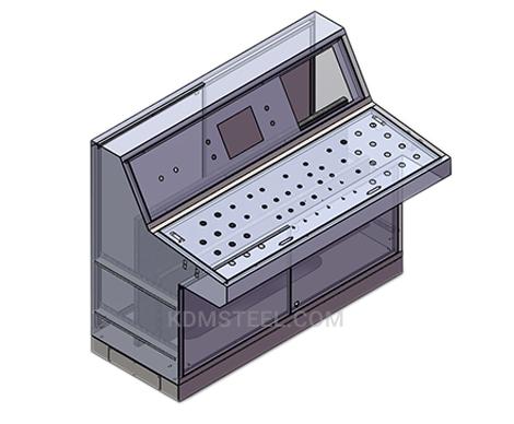 double door piano type free standing IP console enclosures
