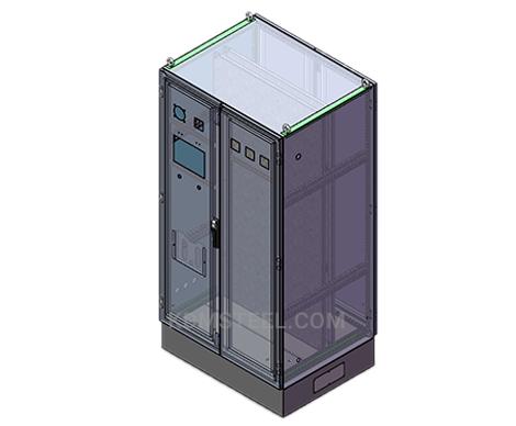 double door stainless steel free standing enclosure with door handle and hinge