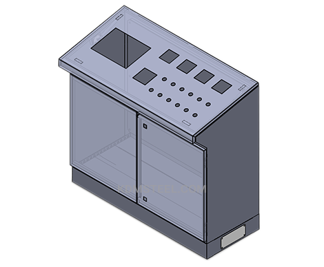 double door stainless steel washdown electrical enclosure