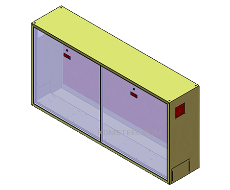 double door vented nema 13 enclosure