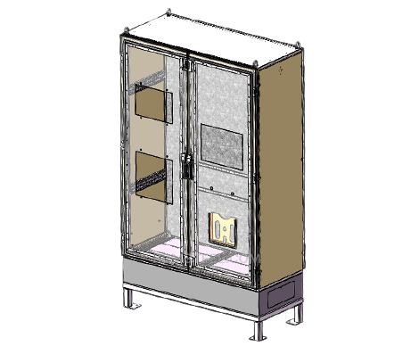 floor mount metal enclosure
