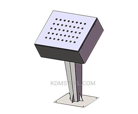 floor standing IP push button enclosure