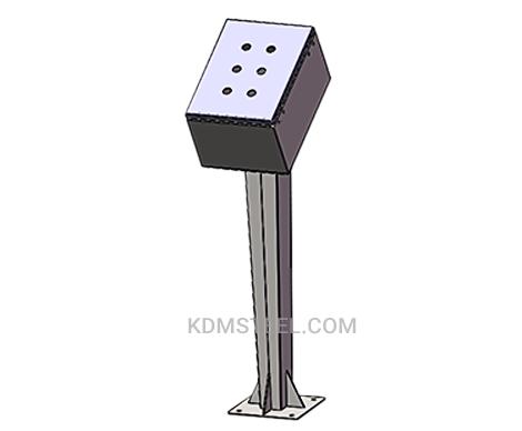 floor standing metal junction box