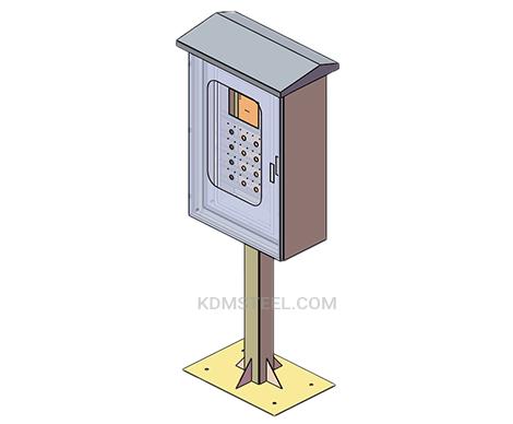 floor standing outdoor stainless steel junction box