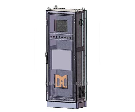 free standing Galvanized Steel Enclosure with door interlock