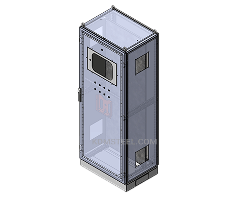 free standing IP55 enclosure with viewing window