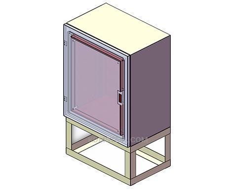 free standing carbon steel IP55 cabinet