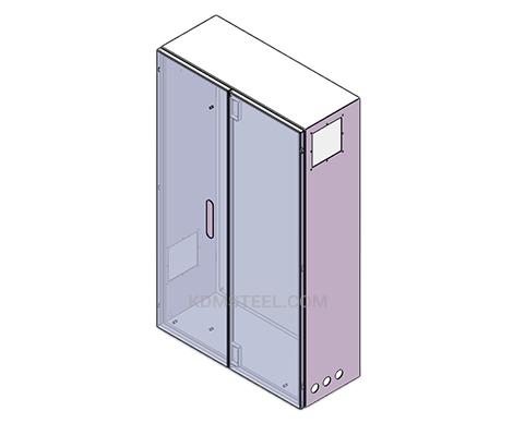 free standing double door custom nema 4x enclosures