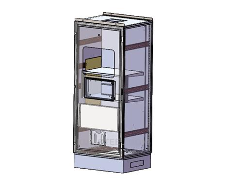 free standing modular nema 2 enclosure with window