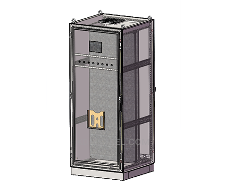 free standing stainless steel traffic control box