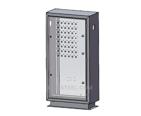 galvanized free standing single door control panel enclosure