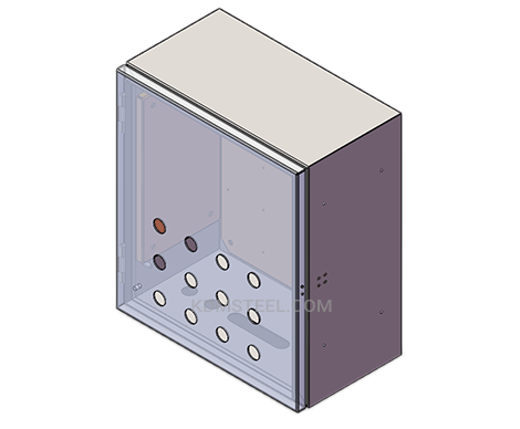 hinged carbon steel battery enclosure