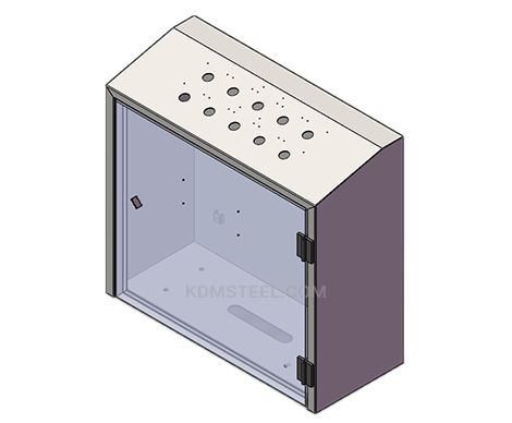 hinged wall mount IP66 box enclosure