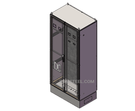 lockable metal free standing enclosure