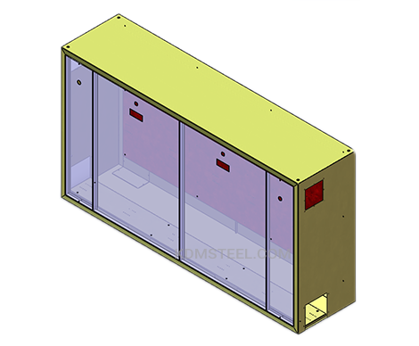 multi door carbon steel electrical panel enclosure
