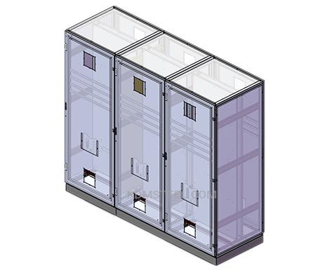 multi door free standing stainless steel IP55 enclosure