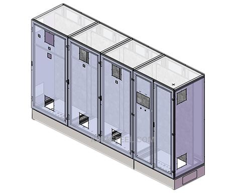 multi door vented free standing nema 12 enclosure