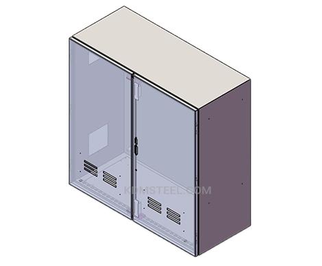 nema 12 free standing enclosure with double door