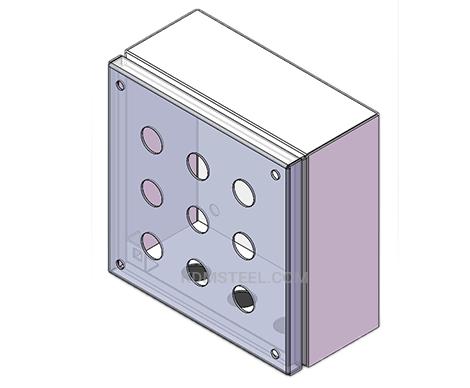nema 12 stainless steel press button enclosure