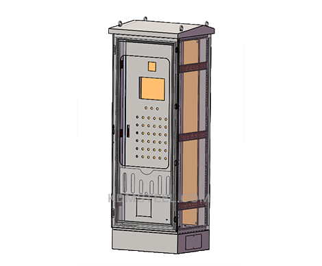 outdoor free standing modular electrical enclosure with file pocket