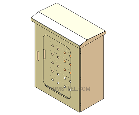 outdoor stainless steel lockable IP44 box
