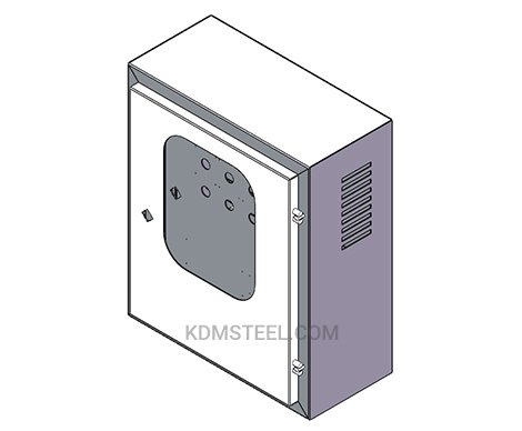 powder painted wall mount steel Vented Electrical Enclosure with window